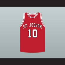 Arthur Agee 10 St Joseph Chargers High School Red Basketball Jersey Hoop Dreams