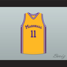 Arthur Agee 11 John Marshall Metropolitan High School Commandos Yellow Basketball Jersey Hoop Dreams