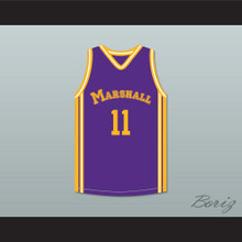 Arthur Agee 11 John Marshall Metropolitan High School Commandos Purple Basketball Jersey Hoop Dreams