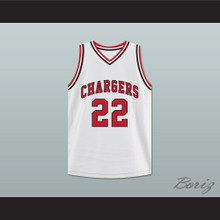 William Gates 22 Chargers High School White Basketball Jersey Hoop Dreams