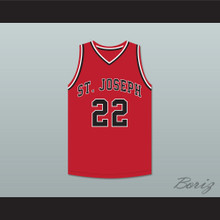 William Gates 22 St Joseph High School Red Basketball Jersey Hoop Dreams