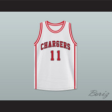 Isiah Thomas 11 St Joseph Chargers High School White Basketball Jersey Hoop Dreams