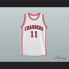 Isiah Thomas 11 Chargers High School White Basketball Jersey Hoop Dreams