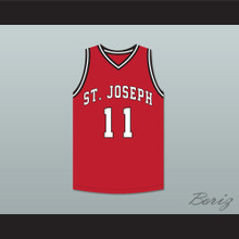 Isiah Thomas 11 St Joseph Chargers High School Red Basketball Jersey Hoop Dreams