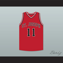 Isiah Thomas 11 St Joseph Chargers High School Red Basketball Jersey