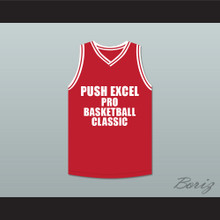 Isiah Thomas 11 Push Excel Pro Basketball Classic Red Basketball Jersey Hoop Dreams