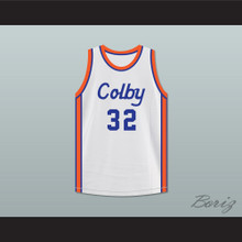 Curtis Gates 32 Colby High School White Basketball Jersey Hoop Dreams