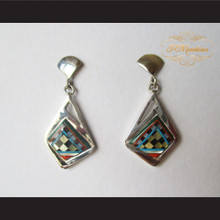 P Middleton Abstract Style Earrings Sterling Silver .925