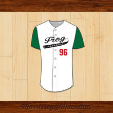 Frog Baseball 96 Butt-Head Baseball Jersey by Morrissey&Macallan
