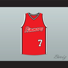 Grove Street Families 7 Los Santos Rimmers Red Basketball Jersey