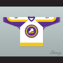 WHA 1973-74 New York Golden Blades Norm Ferguson 9 Home Hockey Jersey