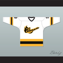 EHL Syracuse Blazers 9 White Hockey Jersey