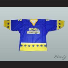 Bosnia & Herzegovina National Team Blue Hockey Jersey Any Player or Number