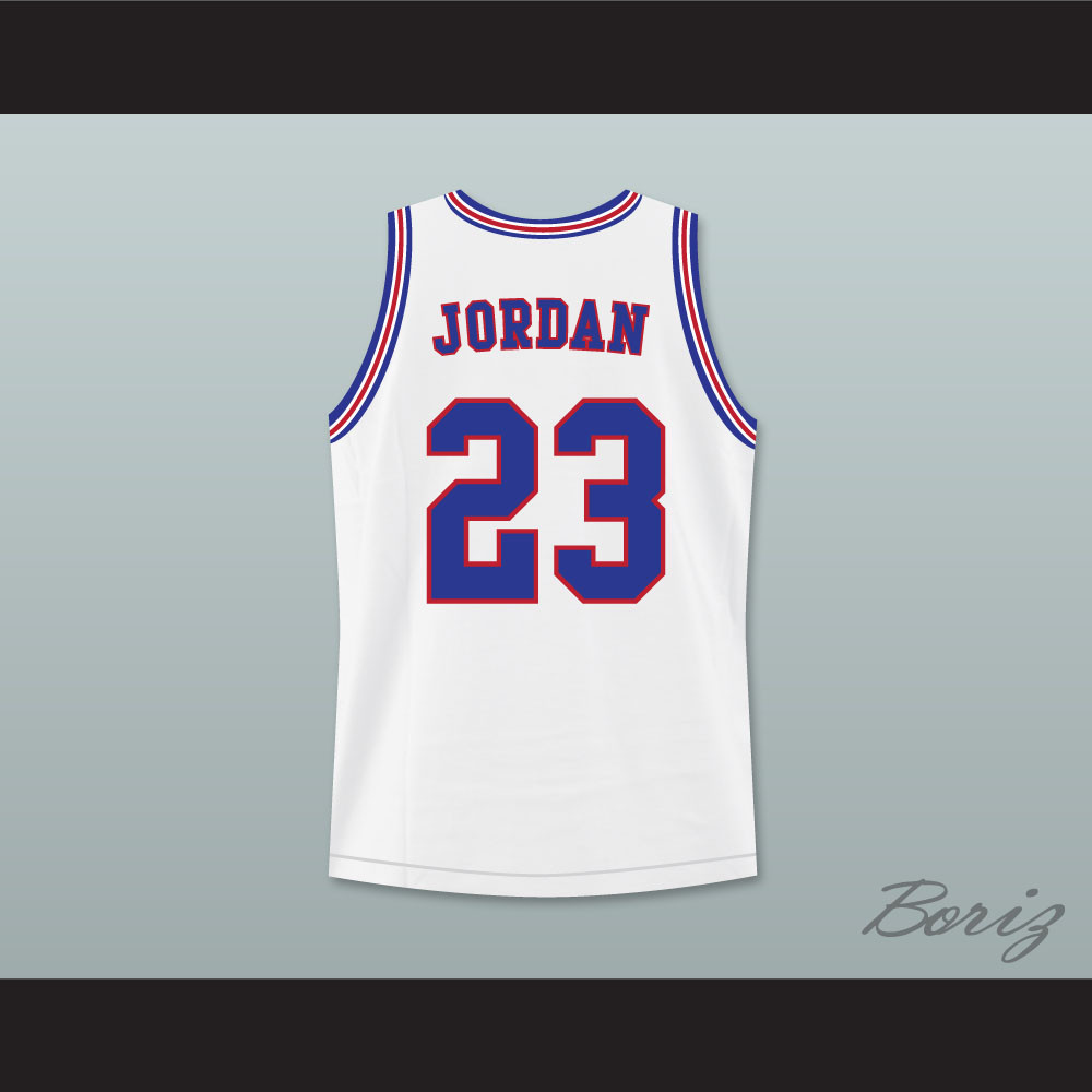 huge discount 93535 53055 Michael Jordan 23 Tune Squad Basketball Jersey Includes Space Jam Patch