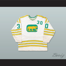 WHA 1973-74 Chicago Cougars Cam Newton 30 Home Hockey Jersey