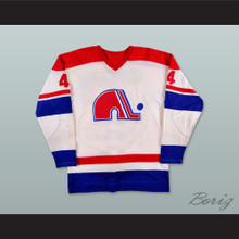 WHA 1973-74 Quebec Nordiques Francois Lacombe 4 Home Hockey Jersey