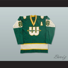 WHA 1974-75 New England Whalers Tom Webster 8 Away Hockey Jersey