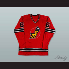 WHA 1974-75 Michigan Stags Gary Bredin 9 Away Hockey Jersey