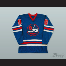 WHA 1974-75 Winnipeg Jets Perry Miller 8 Away Hockey Jersey