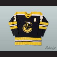 WHA 1976-77 Cincinnati Stingers Rich Leduc 7 Away Hockey Jersey