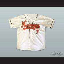 Nicaragua 7 White Baseball Jersey