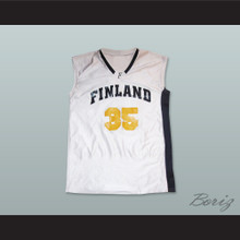 Finland 35 White Basketball Jersey