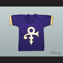 Prince Tribute Purple Football Jersey