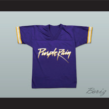 Prince Tribute Purple Rain Football Jersey
