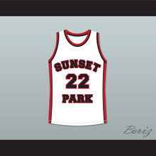 Antwon Tanner Drano 22 Sunset Park White Basketball Jersey