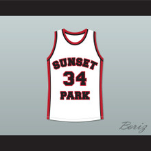 Guy Torry Boo Man 34 Sunset Park White Basketball Jersey