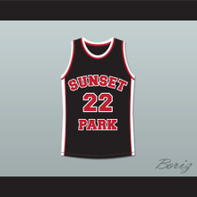 Antwon Tanner Drano 22 Sunset Park Black Basketball Jersey
