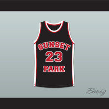 De'aundre Bonds Busy-Bee 23 Sunset Park Black Basketball Jersey