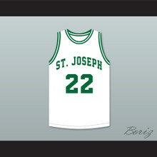Butch McRae 22 St Joseph High School Basketball Jersey Blue Chips