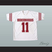 Scott McCall 11 Beacon Hills Cyclones White Lacrosse Jersey Teen Wolf