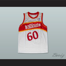 Wiz Khalifa 60 Taylor Gang White Basketball Jersey with Patch