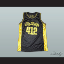 Wiz Khalifa 412 Taylor Gang Black Basketball Jersey