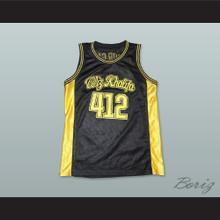 Wiz Khalifa 412 Taylor Gang Black Basketball Jersey