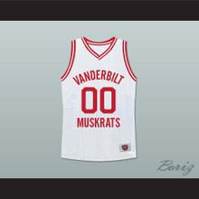 Family Matters Steve Urkel 00 Vanderbilt Muskrats High School White Basketball Jersey Deluxe Edition