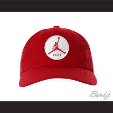 Steve Urkel Jumpman Spoof Logo Red Baseball Hat Family Matters
