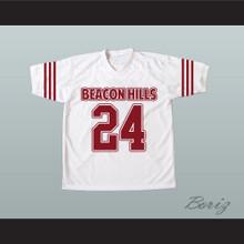 Stiles Stilinski 24 Beacon Hills Cyclones White Lacrosse Jersey Teen Wolf