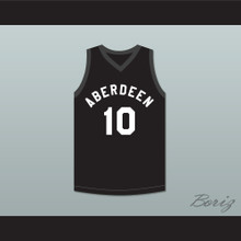 Allen Iverson 10 Aberdeen Elementary School Black Basketball Jersey