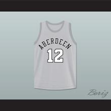 Allen Iverson 12 Aberdeen Elementary School Gray Basketball Jersey