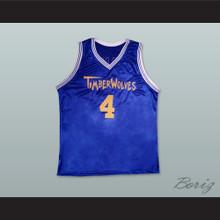Kevin Zegers Josh Framm 4 Timberwoves Basketball Jersey Air Bud