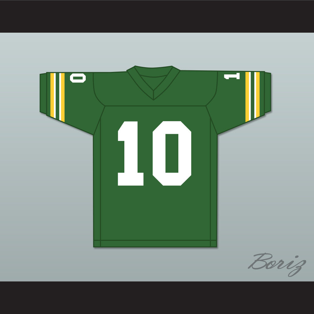 4d4e67e01d8 Allen Iverson 10 Bethel High School Bruins Green Football Jersey. Price:  $55.99. Image 1