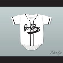 Biggie Smalls 10 Bad Boy White Baseball Jersey