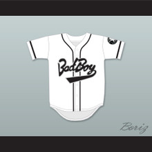Biggie Smalls 10 Bad Boy White Baseball Jersey Includes Patch