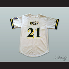 Bernie Mac Stan Ross 21 Pro Career White Baseball Jersey Mr 3000