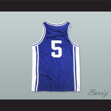 Tupac Shakur Jeff Capel 5 Iconic Blue Basketball Jersey