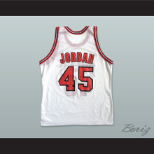 Michael Jordan 45 Post Retirement White Basketball Jersey
