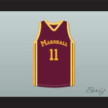 Arthur Agee 11 John Marshall Metropolitan High School Maroon Basketball Jersey Hoop Dreams